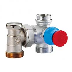 Giacomini R414D Termostatický ventil dvouregulační pro skříňku R508M (podlahové vytápění) 18 x 18