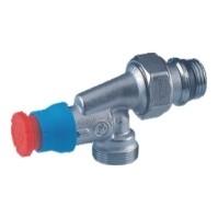 Giacomini R415TG Termostatický ventil rohový, osa hlavy přímá, s víčkem, gumové těsnění