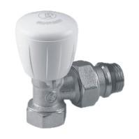 Giacomini R421TG Termostatický ventil rohový, s ruční hlavou, chrom