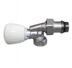 Giacomini R435TG Termostatický ventil rohový s ruční hlavou, chrom