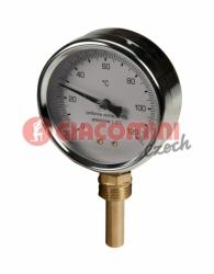"""Giacomini R540I Teploměr s jímkou 1/2"""", 0°-120°C, zadní připojení"""