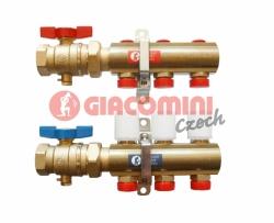 Giacomini R553A Set rozdělovače a držáků pro montáž k rozdělovači R557R (pro vysokoteplotní část)