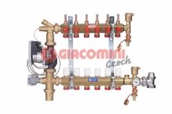 Giacomini R557FMS-W Směšovací rozdělovač s průtokoměry pro podlahové vytápění do nízkoteplotních systémů, kompletní sestava