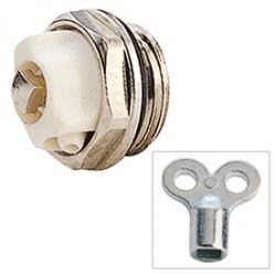 """Giacomini R90 Odvzdušňovací radiátorový ventil 1/2"""" NIKL"""