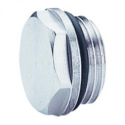 Giacomini R92 Zátka radiátorová s těsněním, chrom