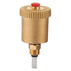 Giacomini R99I Automatický odvzdušňovací ventil, svislý + zpětný ventil, mosaz