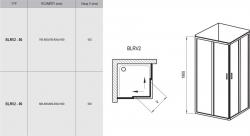 Náhled:Ravak BLRV2-90 satin+Transparent