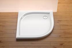 RAVAK ELIPSO Akrylátová sprchová vanička 80 x 80 cm, R500