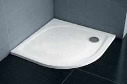 RAVAK Elipso Sprchová vanička z litého mramoru 80 x 80 cm, R500