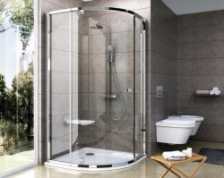Ravak Pivot PSKK3-100 sprchový kout čtvrtkruhový pivotový třídílný, rám satin, sklo transparent