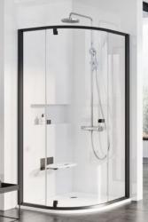 Ravak Pivot PSKK3-100 sprchový kout čtvrtkruhový pivotový třídílný, rám černý, sklo transparent