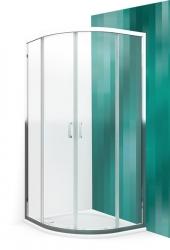Roltechnik Čtvrtkruhový sprchový kout LLR2/800, 80x80x190 cm, sklo čiré, rám bílý