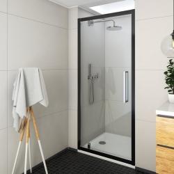 Roltechnik Sprchové dveře jednokřídlé ECDO1N/1000, 97,5-101,5x205 cm, sklo čiré, rám černý elox