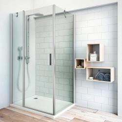 Roltechnik Sprchové dveře jednokřídlé TDO1/1000, 97,5-99x201 cm, rám stříbro, sklo Transparent