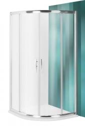 Roltechnik Sprchový kout čtvrtkruhový PXR2N/1000, 100x100x185 cm, satinato sklo, rám Brilliant