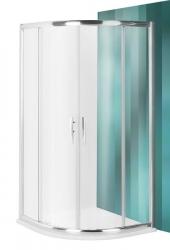 Roltechnik Sprchový kout čtvrtkruhový PXR2N/900, 90x90x200 cm, transparent sklo, rám brillant