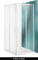 Roltechnik Sprchový kout PXS2P/900, 885-910x200 mm, pravý, sklo transparent, rám Brilliant