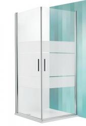 Roltechnik Sprchový kout TCO1/900, 87,5-89,5x201 cm, sklo intimglass, rám stříbro