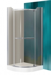 Roltechnik PROJECT Sprchový kout DENVER/800, sklo rauch, rám stříbro, 80x80x195 cm