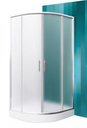 Roltechnik PROJECT Sprchový kout HOUSTON NEO/800, sklo matné, rám brillant 80x80x190 cm