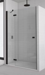 SanSwiss ANNEA Sprchové dveře AN13 1100, 1080-1100x2000 mm, sklo čiré, rám černý mat