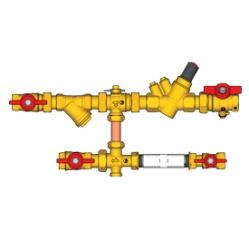 Giacomini Sestava pro přívod, jeden z kulových kohoutů s otvorem M10x1 pro čidlo, filtr, vyvažovací ventil