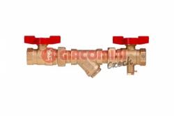 Giacomini Sestava pro přívod, jeden z kulových kohoutů s otvorem M10x1 pro čidlo, s filtrem