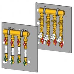 """Giacomini Sestava pro přívod topení s možností instalace oběhových čerpadel 1""""1/4 x 3/4"""""""