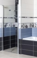 Sprchové dveře Siko SK skládací 100 cm, čiré sklo, chrom profil, univerzální