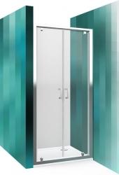Roltechnik Sprchové dveře LLDO2/1000, dvoukřídlé, 97,5-100,5x190 cm, sklo čiré, rám brillant