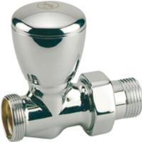 "Giacomini T27C Radiátorový ventil přímý pro adaptér - chrom, leštěný 1/2""x16"