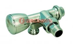 """Giacomini T357B Dvoucestný termostatický ventil, jednobodové spodní připojení, rohový, leštěný chrom, 1/2"""" x 16 pravý"""