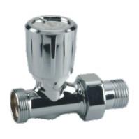 """Giacomini T432C Termostatický ventil s ruční hlavou přímý pro adaptér - chrom, leštěný 1/2""""x16"""