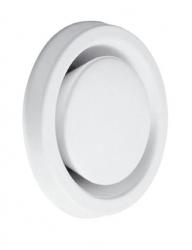 Talířový ventil kovový, odvodní, bílý - KSO