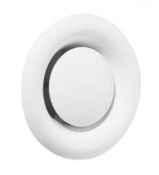 Talířový ventil kovový, odvodní, bílý - KK