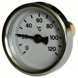 """Regulus Teploměr 0-120°C s jímkou (l= 30, 3/8""""), zadní, d=40 mm  10472"""
