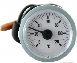 Regulus Teploměr 0-120°C, kapilára 1 m, d=42 mm, šedý 1829