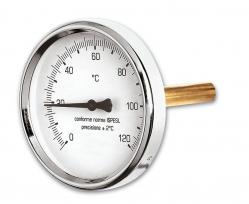 """Ivar CS Teploměr axiální - 0° C až 120° C, zadní napojení 1/2"""" - IVAR.TP 120 A"""