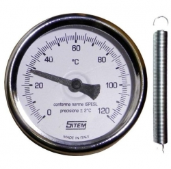 Regulus Teploměr 0-120°C příložný s připevňovací pružinou, d=63 mm  3042
