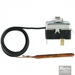 Regulus Termostat havarijní, nastavitelný, reset automatický, kapilára 1m, vypínací 823