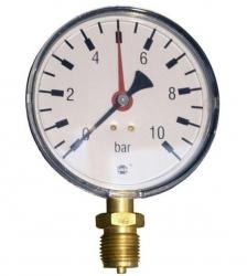 "Tlakoměr 10 bar, G 1/2"" dolní, d=100 mm  3408"