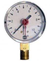 "Tlakoměr 10 bar, G 1/4"" dolní, d= 63 mm 3822"