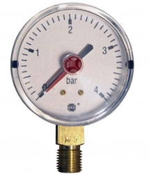 "Tlakoměr 4 bar, G 1/4"" dolní, d= 63 mm  2127"