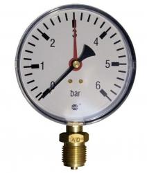 "Tlakoměr 6 bar, G 1/2"" dolní, d= 100 mm  3320"