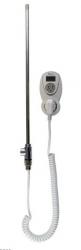"""Elektrické topné těleso do radiátoru Z-SKVT-T s T-kusem a zásuvkovým termostatem, 1/2"""" M, 230 V"""
