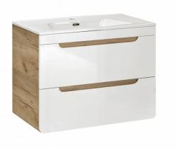 Comad Umyvadlová skříňka Aruba 820, 60x59x45 cm, dub/bílá lesk
