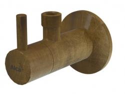 "Alcaplast Ventil rohový s filtrem 1/2""×3/8"", bronz-antic ARV001-ANTIC"