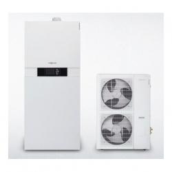 Viessmann Vitocaldens 222-F Splitové tepelné čerpadlo vzduch-voda 9,5kW/400V, zásobník TV 130l, plynový kotel