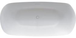 RIHO Volně stojící vana z litého mramoru Bilo 165x77 cm, bílá (Solid Surface)