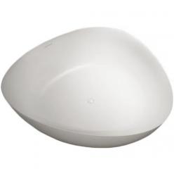 RIHO Volně stojící vana z litého mramoru Oviedo 160x160 cm, bílá (Solid Surface)